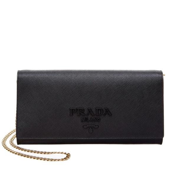 45c3f8fb851e ... reduced prada nwt monochrome saffiano leather chain bag 8f91b f58b8